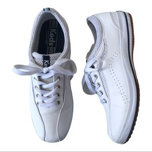 Keds Women's White Leather Sneakers Sz 8.5